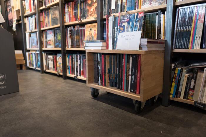 Caisson de la librairie octopus