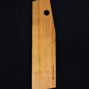 Planche à découper en chêne, profilée pour la découpe de saucisson